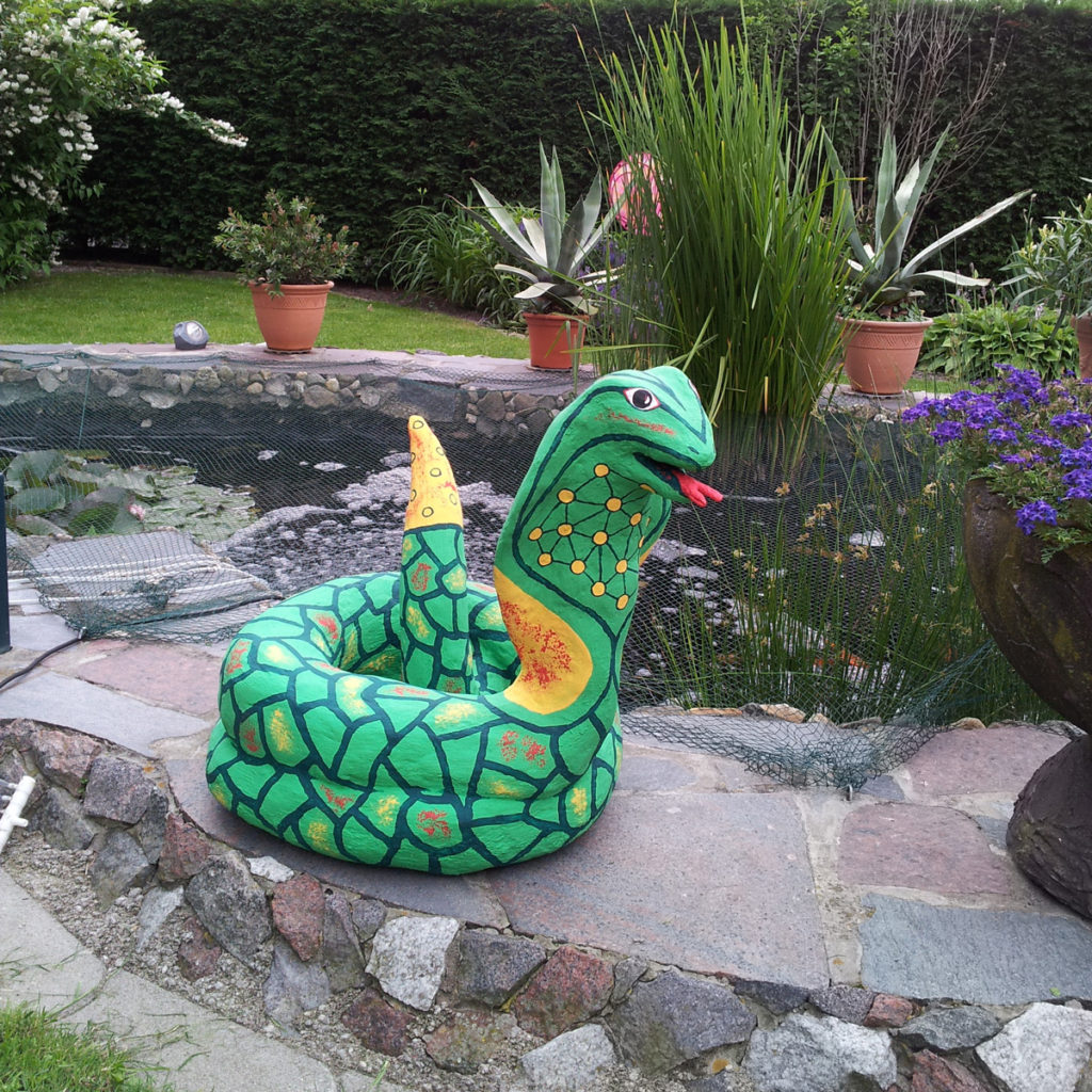 Beton Kobra Schlange Gartendeko Kunstobjekt Skulptur Unikat Hamm
