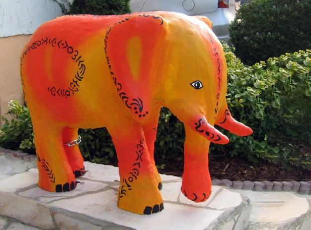 Beton Elefant Kunstobjekt Skulptur Unikat Hamm