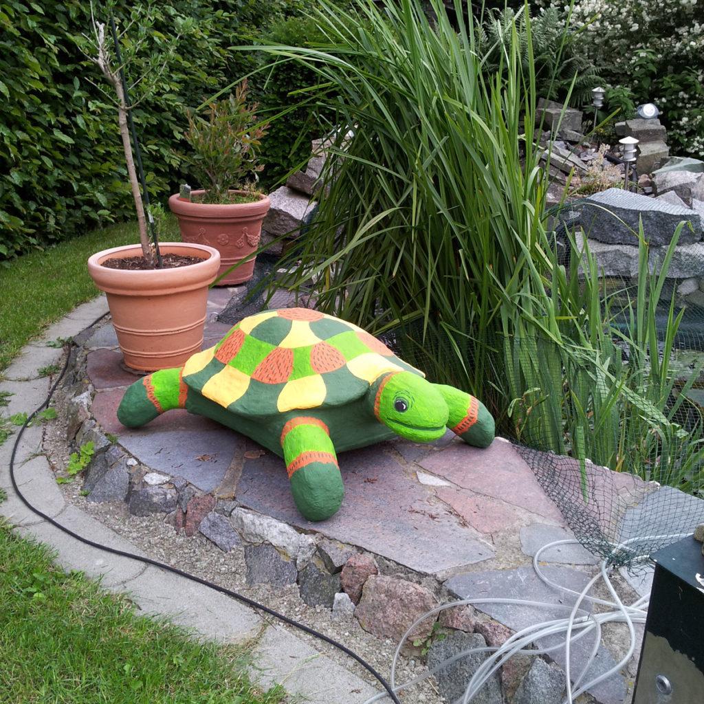 Betonschildkroete Gartenobjekt Gartendeko Betonkunst Schildkröte