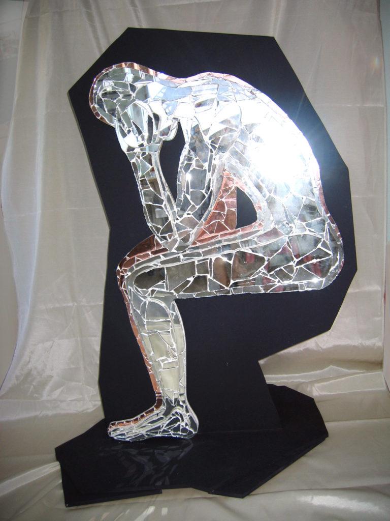 Spiegel Kunstobjekt Der Denker
