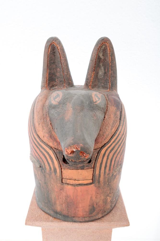 Anubis Ton Unikat Objektdesign Skulptur Kunstobjekt Deko Auftragsarbeiten