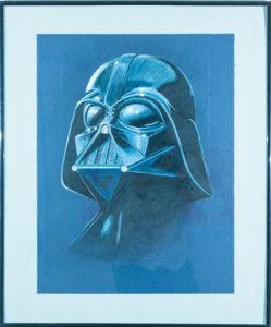 Star Wars Darth Vader Portrait Malerei Kunst Auftragsarbeiten